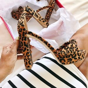 Shoes - Leopard Print Heels
